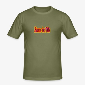 born in the 90 fire - Men's Slim Fit T-Shirt