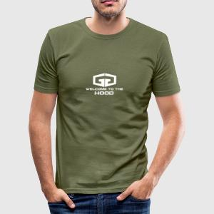 GG Welcome to the Hood Logo white - Männer Slim Fit T-Shirt