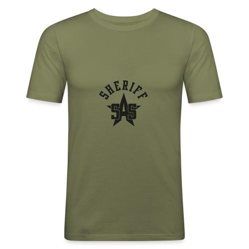 sas sheriff logo los print orig - slim fit T-shirt