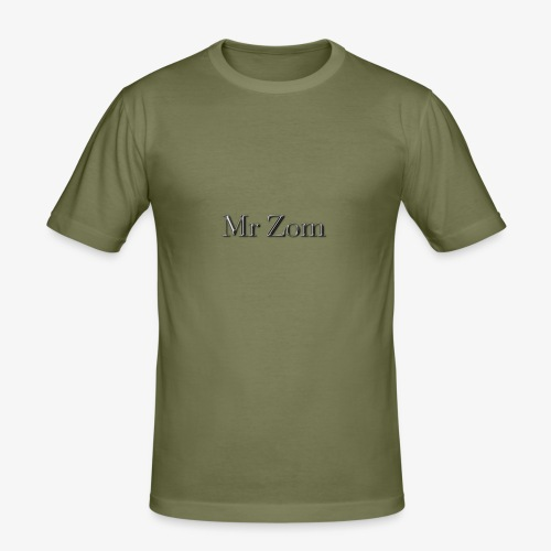 Mr Zom Text - Men's Slim Fit T-Shirt