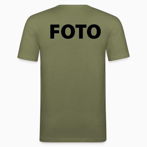 FOTO (Svart tryck) - Slim Fit T-shirt herr