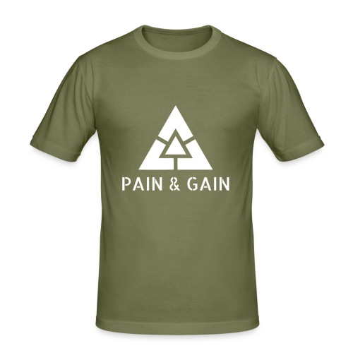 Pain & Gain Clothing - Men's Slim Fit T-Shirt