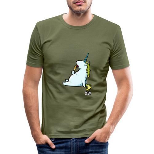 STE 0006 00 Eis Einhorn - Männer Slim Fit T-Shirt