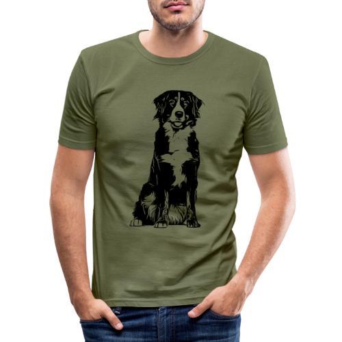 Berner Sennenhund Hunde Design Geschenkidee - Männer Slim Fit T-Shirt