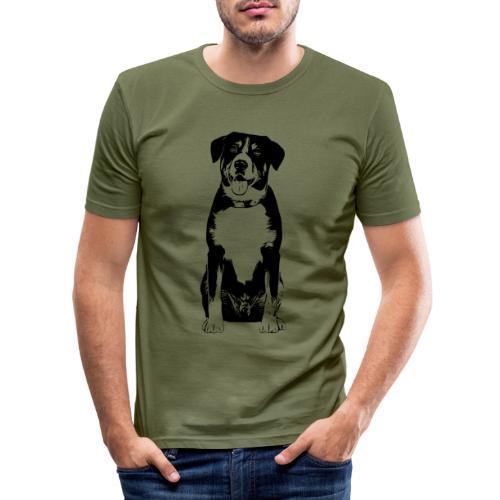 Entlebucher Sennenhund Hunde Design Geschenkidee - Männer Slim Fit T-Shirt