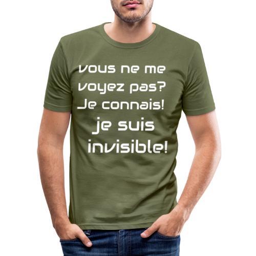 Invisibile #invisibile - Maglietta aderente da uomo