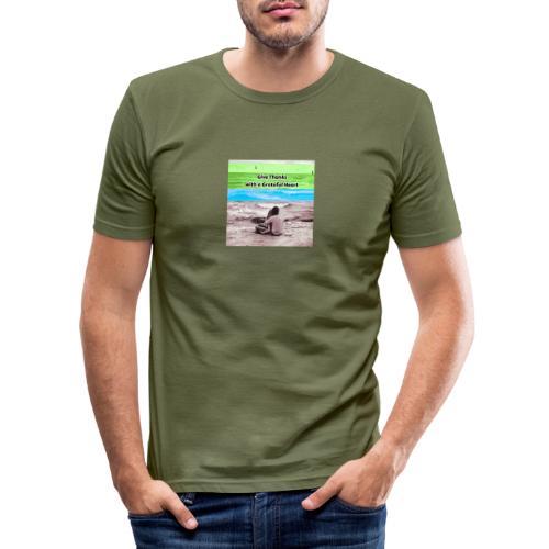 660A4930 87FD 4EB1 B2CC 08CABA14062C - Herre Slim Fit T-Shirt
