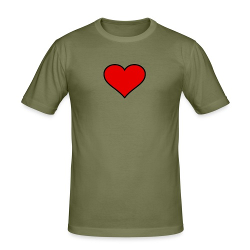 big heart clipart 3 - Slim Fit T-shirt herr