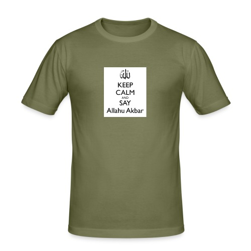 keep-calm-and-say-allahu-akbar - Männer Slim Fit T-Shirt