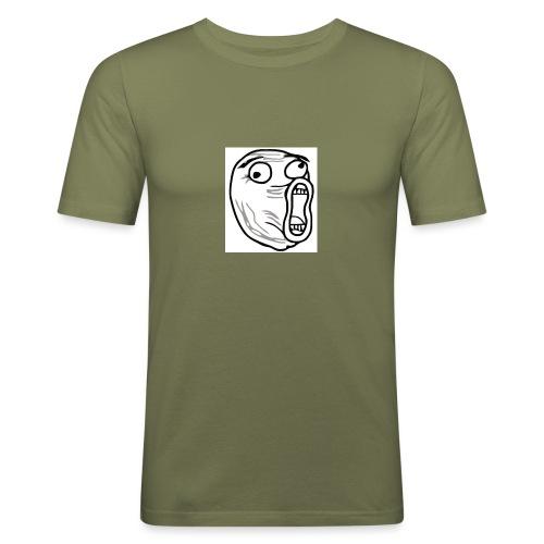 lol guy - Mannen slim fit T-shirt