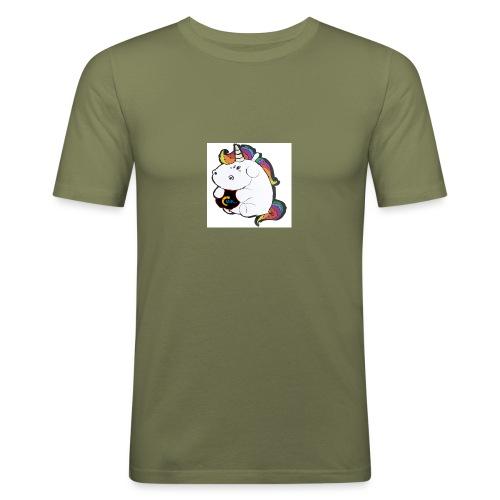 MIK Einhorn - Männer Slim Fit T-Shirt