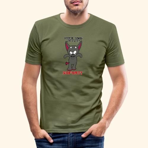 Zwergschlammelfen - Hier und Jetzt, Sofort! - Männer Slim Fit T-Shirt