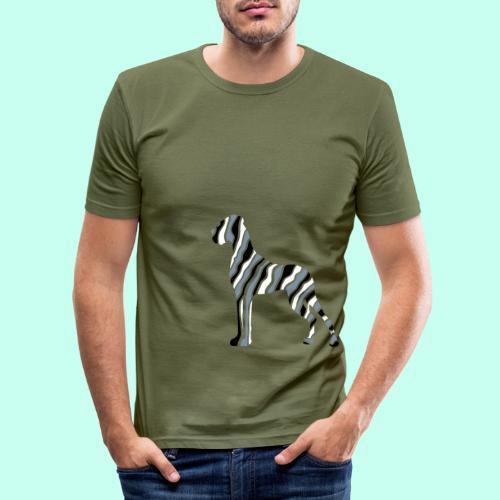 stripe_dane_3f - Männer Slim Fit T-Shirt