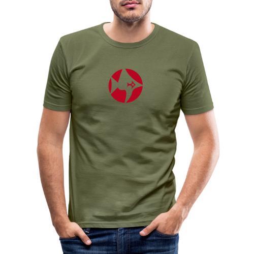 Fisch Design - Männer Slim Fit T-Shirt