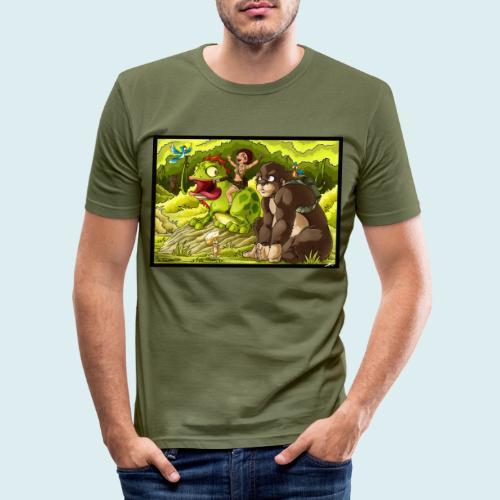 jungle - Maglietta aderente da uomo