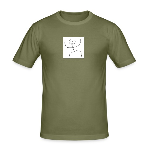 lady t-shirt stick man - Herre Slim Fit T-Shirt