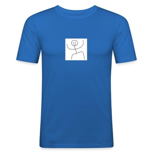 lady t-shirt stick man - Herre Slim Fit T-Shirt