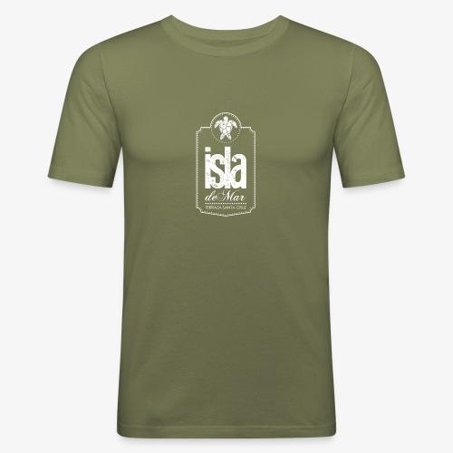 Logotipo White Isla de Mar - Camiseta ajustada hombre