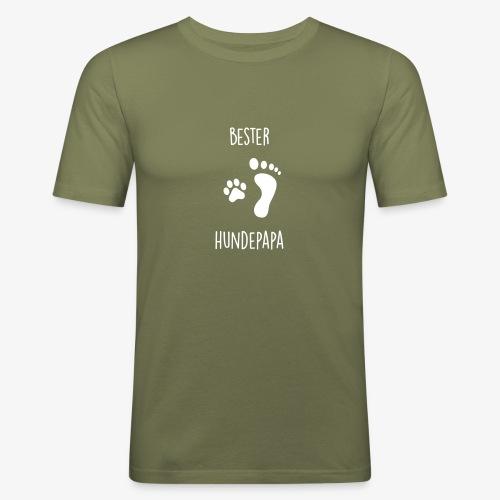 Bester Hundepapa - Männer Slim Fit T-Shirt