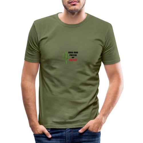 Cactus - Maglietta aderente da uomo