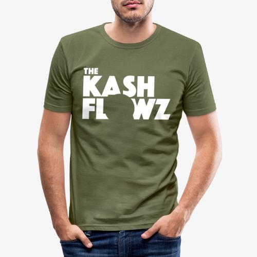 The Kash Flowz Official Logo White - T-shirt près du corps Homme