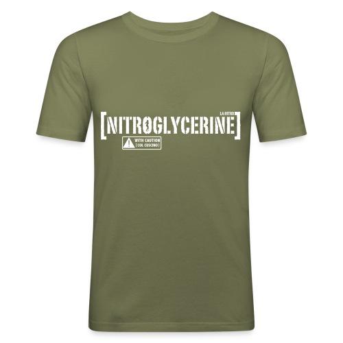 nitro white png - Maglietta aderente da uomo