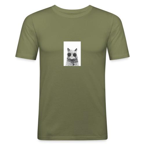 gato coool - Camiseta ajustada hombre