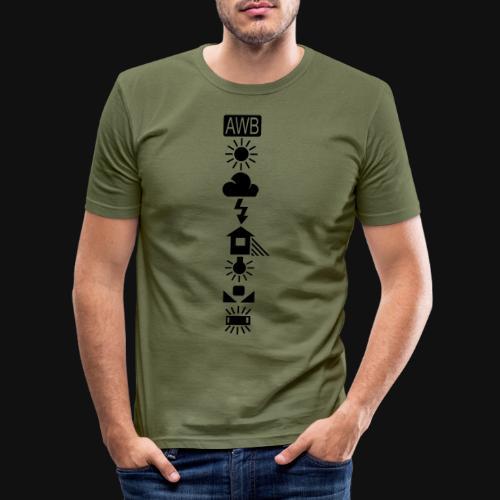 Weissabgleich Symbole Vertikal - Männer Slim Fit T-Shirt