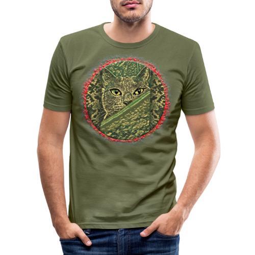 CAT GRACE CAMOUFLAGE - Männer Slim Fit T-Shirt