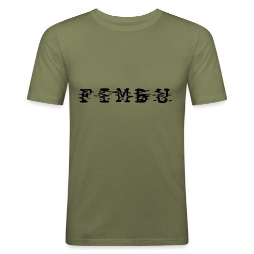 fimbu systematique ya jeaune... - T-shirt près du corps Homme