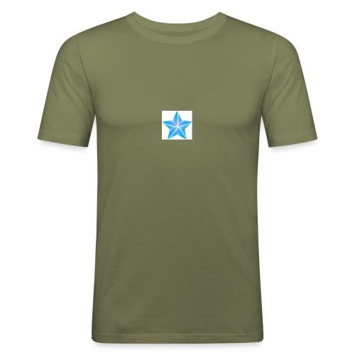 blue themed christmas star 0515 1012 0322 4634 SMU - Men's Slim Fit T-Shirt