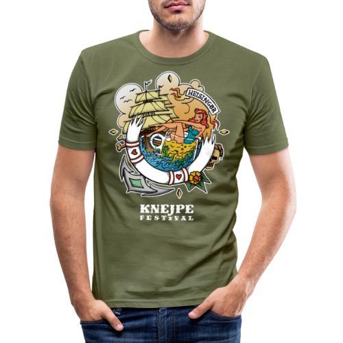 Knejpe Festival - stor tattoo med hvid tekst - Herre Slim Fit T-Shirt