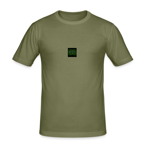 Wit baseball shirt Logo merk - Mannen slim fit T-shirt
