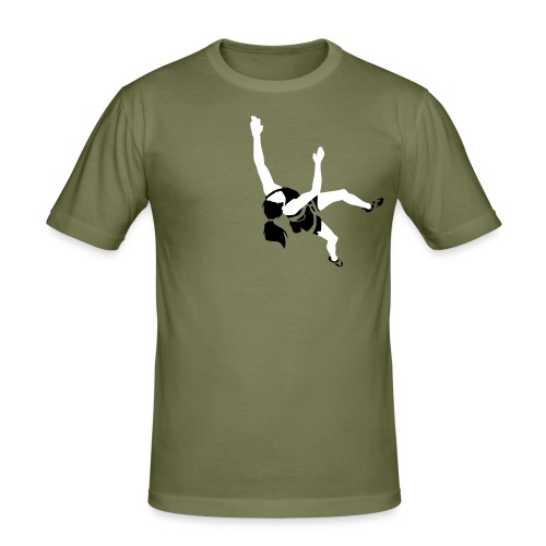 Girl Climber - Men's Slim Fit T-Shirt