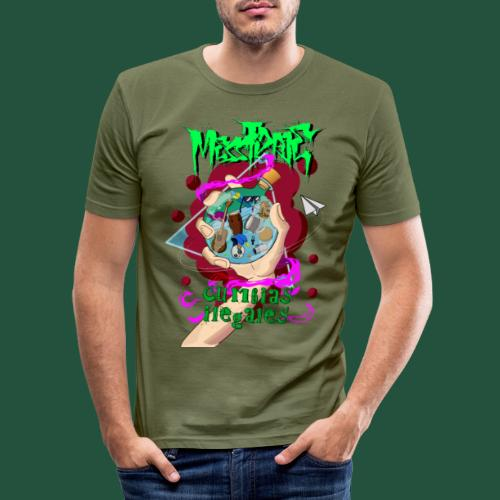 Cumbias Ilegales EP Cover - Männer Slim Fit T-Shirt