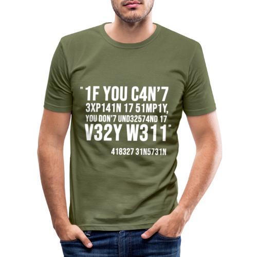 1337 5p34k - T-shirt près du corps Homme