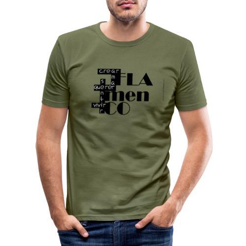 Crucigrama Flamenco - Camiseta ajustada hombre