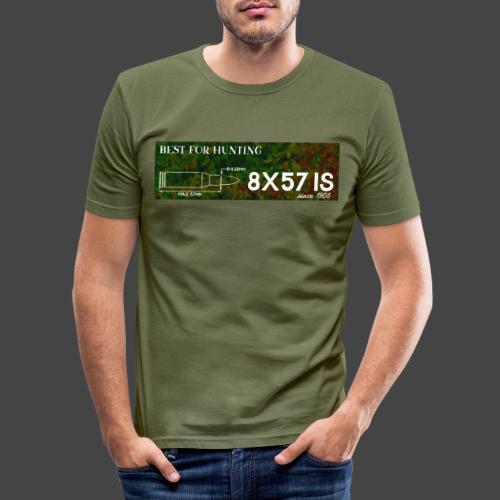 Kalibershirt 8x57IS - seit 1905. Ein Jägershirt - Männer Slim Fit T-Shirt
