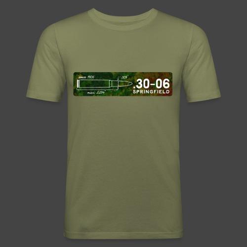 Kalibershirt .30-06 für Jäger und Schützen - Männer Slim Fit T-Shirt