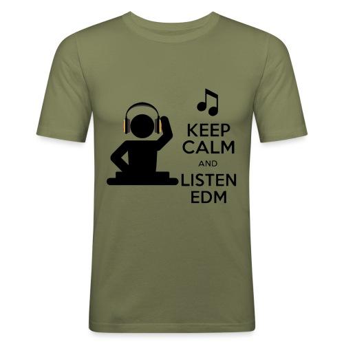 keep calm and listen edm - Men's Slim Fit T-Shirt