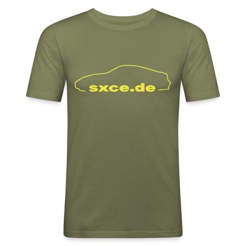 sxce black clean small new - Männer Slim Fit T-Shirt