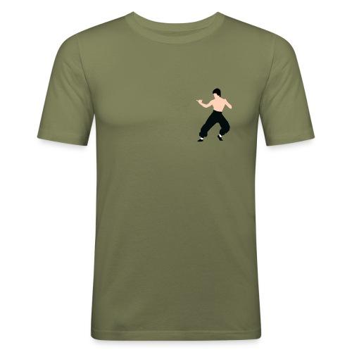 Bruce lee Kampf Pose - Männer Slim Fit T-Shirt