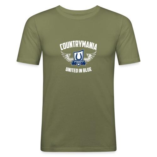 United In Blue - Maglietta aderente da uomo