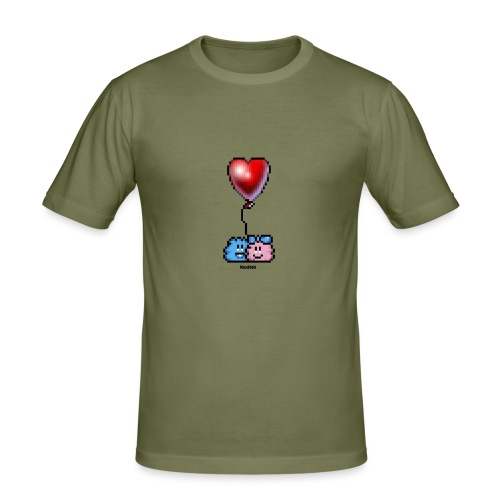 Heart Balloon - Männer Slim Fit T-Shirt