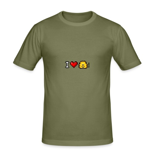 I Love Knuddels - Männer Slim Fit T-Shirt