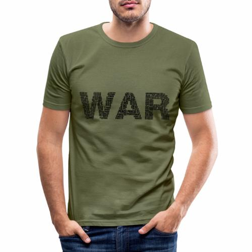 Napis stylizowany War and Peace - Obcisła koszulka męska