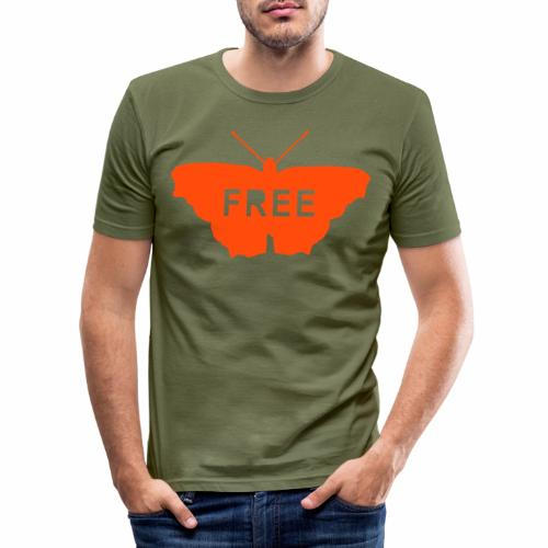 Free Butterfly - Men's Slim Fit T-Shirt
