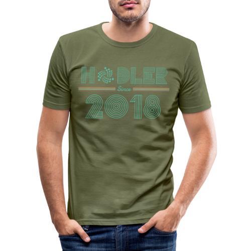 IOTA Hodler since 2018 - Männer Slim Fit T-Shirt