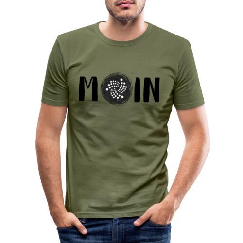 MOIN IOTA | BTC, Kryptowährung | IOTA Shirt - Männer Slim Fit T-Shirt
