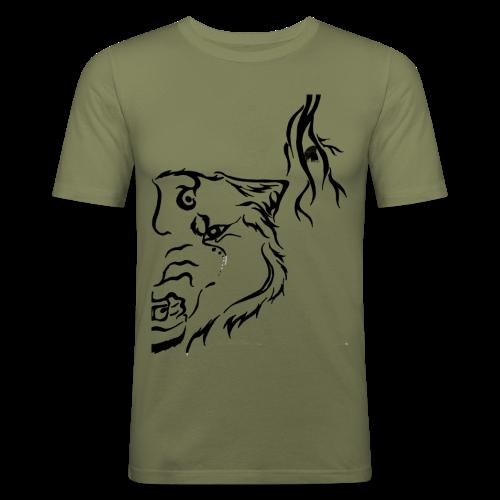 Black Wolf Thunder - Männer Slim Fit T-Shirt